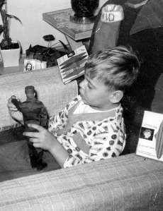 Me and my pre-Kung Fu-grip GI Joe back about 1967 ... stocking stuffers were always the best.