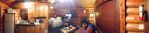 The cabin in Parksville has all I need to winter in warmth and comfort.