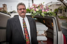 My brother Steve at Grandma's funeral.