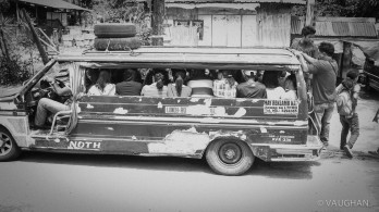 Jeepneys hold whatever can fit and provide the least costly transport.