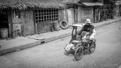 The typical tricycle. Some are motorized, some are peddle operated.