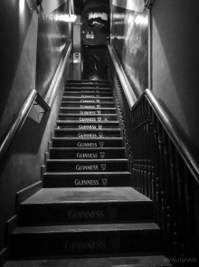 Stairway to comedy at the Blue Jazz.