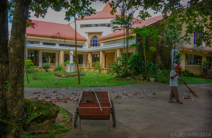 The groundskeeper at Our Lady of the Philippines Trappist Abbey, Guimaras Island.