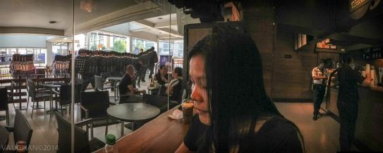 Maritess at Starbucks, Manila